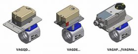 VAG… Valve Actuator Assemblies with VKG Butterfly Valves and Gxx… Actuators