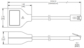 Fireye 60‐3005 RJ45 ModBUS splitter for BurnerPro.