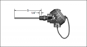 GP04 Spring-Loaded MgO/Thermowell Assemblies w/Connection Heads